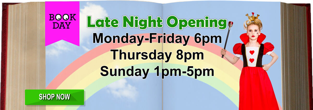 Book Day Book Week - Special Late Night Opening Hours During the Week! - Open Sunday