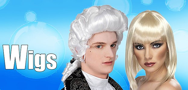 Fancy Dress Wigs - Browse over 400 different Wigs