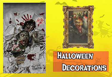 Full Room Banners - Great Props - Skeletons - Party Plates - Napkins - Table Cloths - Creepy DoorBells