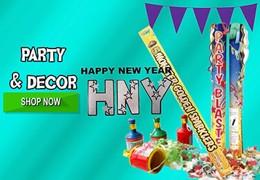 Bring in 2018 with a Bang this New Years Eve - Sparklers, Confetti Cannons, Blow Outs, Hats, Wall Decor and Banners